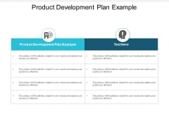 Product Development Plan Example Ppt PowerPoint Presentation File Layout Ideas Cpb