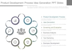 Product Development Process Idea Generation Ppt Slides