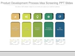 Product Development Process Idea Screening Ppt Slides
