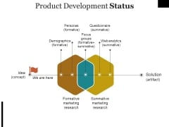 Product Development Status Ppt PowerPoint Presentation Slides Images