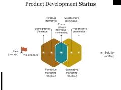 Product Development Status Ppt PowerPoint Presentation Slides Images