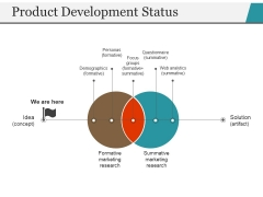 Product Development Status Ppt PowerPoint Presentation Styles Visuals