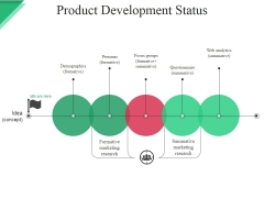 Product Development Status Ppt PowerPoint Presentation Summary Demonstration