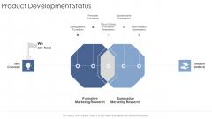 Product Development Status Startup Business Strategy Ppt Layouts Rules PDF