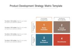Product Development Strategy Matrix Template Ppt PowerPoint Presentation Ideas Guidelines PDF