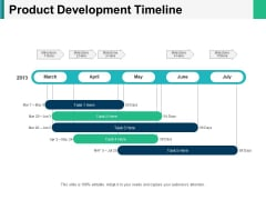 Product Development Timeline Ppt PowerPoint Presentation Slides Clipart