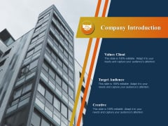 Product Distribution Sales And Marketing Channels Company Introduction Ppt Ideas Example PDF