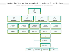 Product Division For Business After International Diversification Ppt PowerPoint Presentation Gallery Inspiration PDF