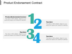 Product Endorsement Contract Ppt PowerPoint Presentation Icon Design Inspiration Cpb