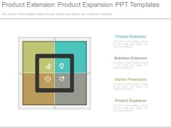 Product Extension Product Expansion Ppt Templates