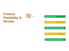 Product Feasibility And Review Ppt PowerPoint Presentation File Icons