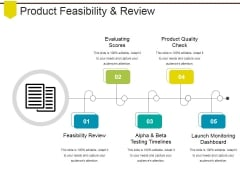 Product Feasibility And Review Ppt PowerPoint Presentation File Slideshow