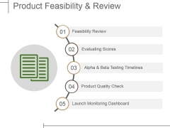 Product Feasibility And Review Ppt PowerPoint Presentation Model Aids