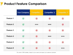 Product Feature Comparison Ppt PowerPoint Presentation File Vector