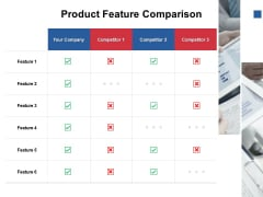 Product Feature Comparison Ppt PowerPoint Presentation Portfolio Graphics Template