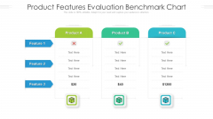 Product Features Evaluation Benchmark Chart Ppt PowerPoint Presentation Inspiration Themes PDF