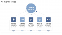 Product Features Startup Business Strategy Ppt Infographic Template Introduction PDF