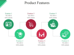 Product Features Template Ppt PowerPoint Presentation Gallery Examples