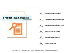 Product Idea Screening Ppt PowerPoint Presentation Portfolio Outline