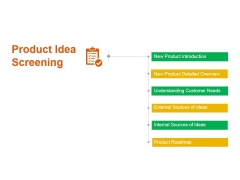 Product Idea Screening Ppt PowerPoint Presentation Summary Graphics Tutorials