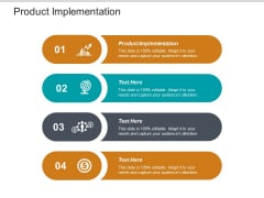 Product Implementation Ppt PowerPoint Presentation Show Graphics Template Cpb