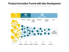 Product Innovation Funnel With Idea Development Ppt PowerPoint Presentation Summary Portrait PDF