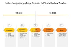 Product Introduction Marketing Strategies Half Yearly Roadmap Template Themes