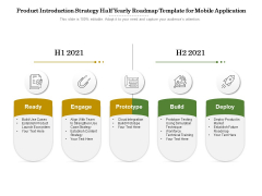 Product Introduction Strategy Half Yearly Roadmap Template For Mobile Application Information