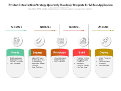 Product Introduction Strategy Quarterly Roadmap Template For Mobile Application Summary