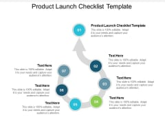 Product Launch Checklist Template Ppt PowerPoint Presentation Show Good Cpb