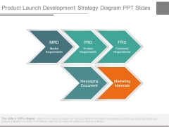 Product Launch Development Strategy Diagram Ppt Slides