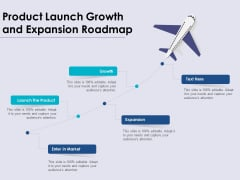 Product Launch Growth And Expansion Roadmap Ppt PowerPoint Presentation Professional Design Ideas PDF