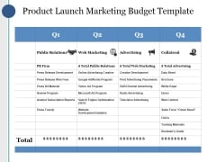 Product Launch Marketing Budget Template Ppt PowerPoint Presentation Gallery