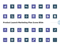 Product Launch Marketing Plan Icons Slide Ppt Professional Example PDF