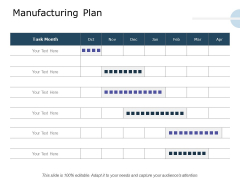 Product Launch Marketing Plan Manufacturing Plan Ppt Styles Topics PDF