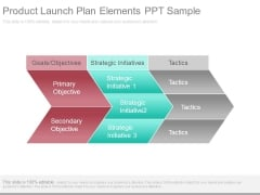 Product Launch Plan Elements Ppt Sample