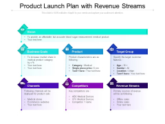 Product Launch Plan With Revenue Streams Ppt PowerPoint Presentation File Outline PDF
