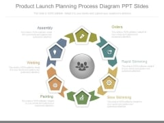 Product Launch Planning Process Diagram Ppt Slides