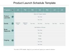 Product Launch Schedule Template Ppt PowerPoint Presentation Professional Template