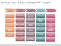 Product Launch Strategy Example Ppt Sample