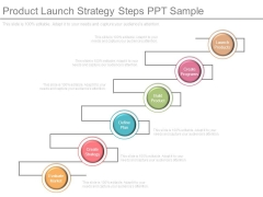 Product Launch Strategy Steps Ppt Sample