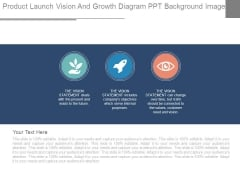 Product Launch Vision And Growth Diagram Ppt Background Images