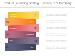 Product Launching Strategy Example Ppt Summary