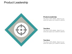 Product Leadership Ppt PowerPoint Presentation Infographics Templates Cpb