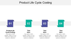 Product Life Cycle Costing Ppt PowerPoint Presentation Portfolio Deck Cpb