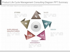 Product Life Cycle Management Consulting Diagram Ppt Summary