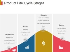 Product Life Cycle Stages Ppt PowerPoint Presentation Deck
