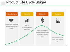 Product Life Cycle Stages Ppt PowerPoint Presentation File Smartart