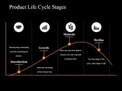 Product Life Cycle Stages Ppt PowerPoint Presentation Summary Example Topics