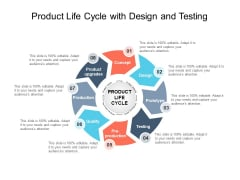 Product Life Cycle With Design And Testing Ppt PowerPoint Presentation File Graphic Tips PDF
